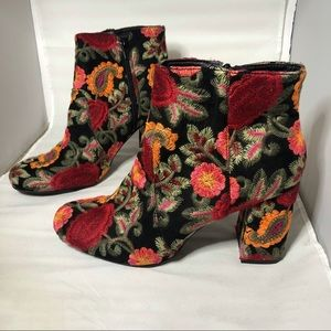 MIA Vail Embroidered Floral Bootie
